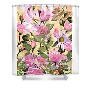 Rose Refraction Shower Curtain
