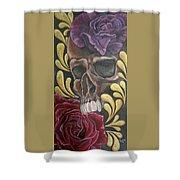 Rose Skull  Shower Curtain