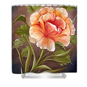 Rose Tropicana Shower Curtain