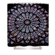 Rose Window At Notre Dame Cathedral Paris Shower Curtain