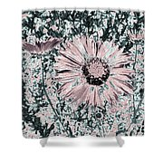 Rose Wine Daisies Shower Curtain