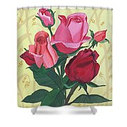 Rose With Roses Shower Curtain