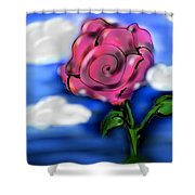 Rose Within The Clouds Shower Curtain