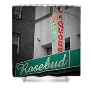 Rosebud Liquors Shower Curtain