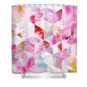 Roselique Cubes Shower Curtain