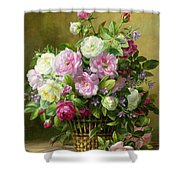 Roses  Shower Curtain by Albert Williams