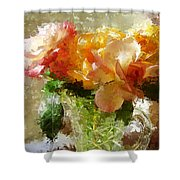 Roses And Crystal Shower Curtain