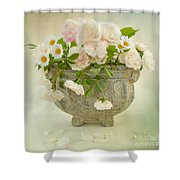 Roses And Daisys Shower Curtain