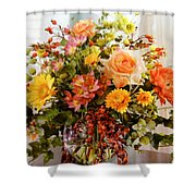 Roses And  Flowers  Shower Curtain
