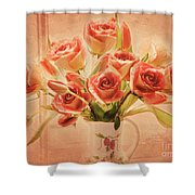 Roses And Tulips Shower Curtain
