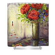 Roses And Woman Shower Curtain