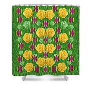Roses Dancing On A Tulip Field Of Festive Colors Shower Curtain