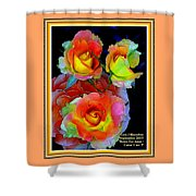Roses For Anne Catus 1 No. 3 V A With Decorative Ornate Printed Frame. Shower Curtain