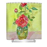 Roses For Dorothy Shower Curtain