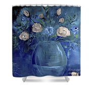 Roses For Him Painting Shower Curtain