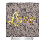 Roses For Love Shower Curtain by BONB Creative
