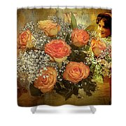 Roses From Judy Shower Curtain