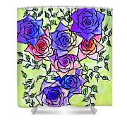 Roses Garden Shower Curtain