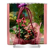Roses Gift Bag Shower Curtain