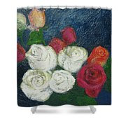 Roses I Shower Curtain