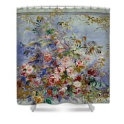 Roses In A Window Shower Curtain
