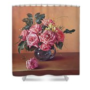 Roses In Glass Shower Curtain