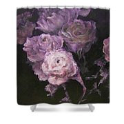 Roses In Mauve Shower Curtain