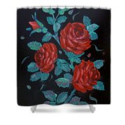Roses In The Classic Style Shower Curtain