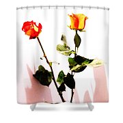 Roses In The Light Shower Curtain