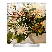 Roses Ll Shower Curtain