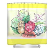Roses On A Birthday Shower Curtain