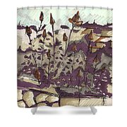 Roses On Hill Shower Curtain