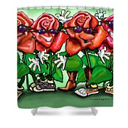 Roses Party Shower Curtain