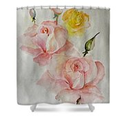 Roses Scent Shower Curtain