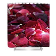 Rose Waves Shower Curtain