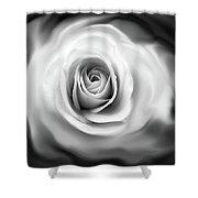 Rose's Whisper Black And White Shower Curtain