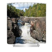 Rosetone Falls Shower Curtain
