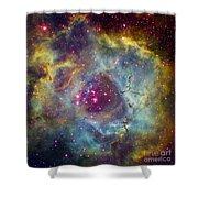 Rosette Nebula Ngc 2244 In Monoceros Shower Curtain