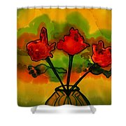 Rosey Afternoon Shower Curtain
