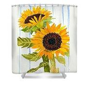 Rosezella's Sunflowers II Shower Curtain
