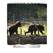 Rosie And Cubs Shower Curtain