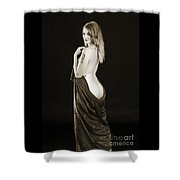 Rosie Nude Fine Art Print In Sensual Sexy 4617.01 Shower Curtain