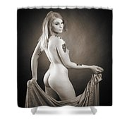Rosie Nude Fine Art Print In Sensual Sexy 4634.01 Shower Curtain