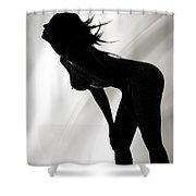 Rosie Nude Fine Art Print In Sensual Sexy 4640.01 Shower Curtain