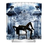 Rosie Nude Fine Art Print In Sensual Sexy Color 4688.02 Shower Curtain