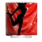 Rosie Nude Fine Art Print In Sensual Sexy Color 4690.02 Shower Curtain