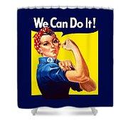 Rosie The Rivetor Shower Curtain