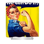 Rosie The Rivetor Shower Curtain