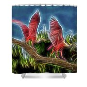 Rosies On Fire Shower Curtain