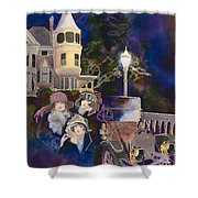 Ross Island Bridge House Shower Curtain